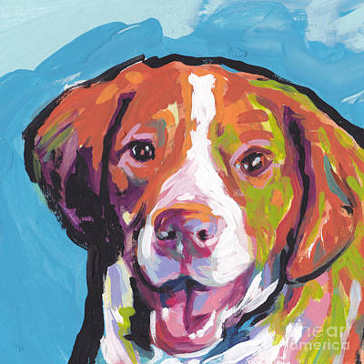 Puppy Painting - Bright Brit by Lea S