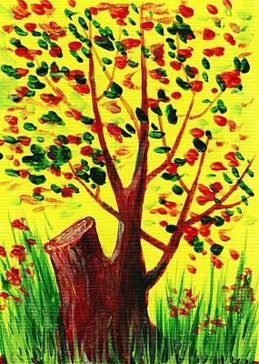 Acrylic Painting - Bright Fall by Anastasiya Malakhova