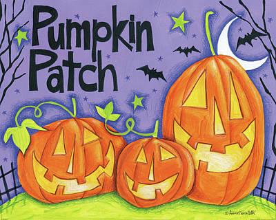 Halloween Painting - Bright Halloween Iv by Anne Tavoletti