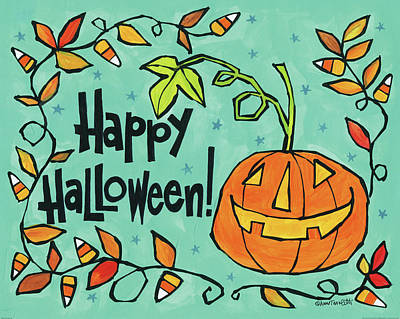Halloween Painting - Bright Halloween Vii by Anne Tavoletti