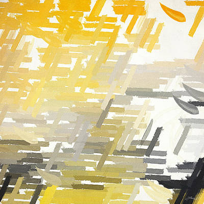 Yellow Abstracts Digital Art - Bright Slashes by Lourry Legarde
