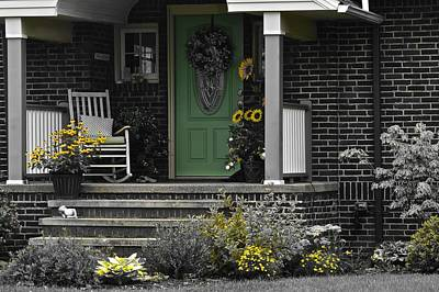 Rocking Chairs Photograph - Brightening Your Day by Frozen in Time Fine Art Photography