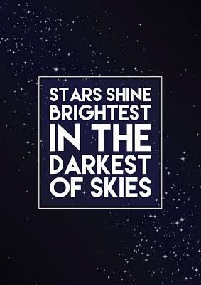 Brightest Stars Print by Samuel Whitton