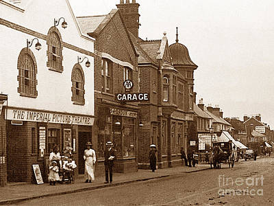 Brighton Road Crawley England Print by The Keasbury-Gordon Photograph Archive