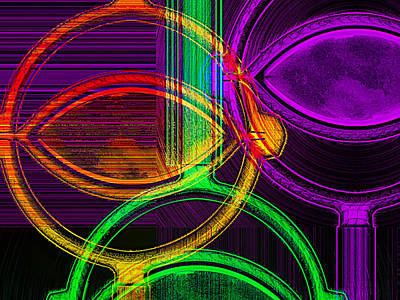 Wendy J. St. Christopher Digital Art - Brights by Wendy J St Christopher