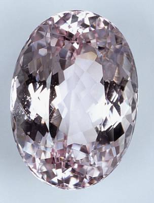 Crystalline Photograph - Brilliant-cut Morganite (beryl) by Dorling Kindersley/uig