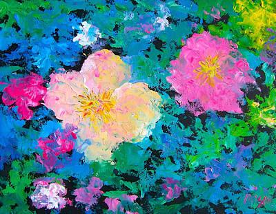 Poppy Painting - Brilliant Flower Garden by Jan Matson