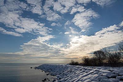 Brilliant Sunshine After The Snowstorm - A Winter Beach On Lake Ontario Print by Georgia Mizuleva