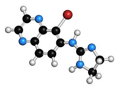 Chemical Photograph - Brimonidine Alpha2-adrenergic Drug by Molekuul