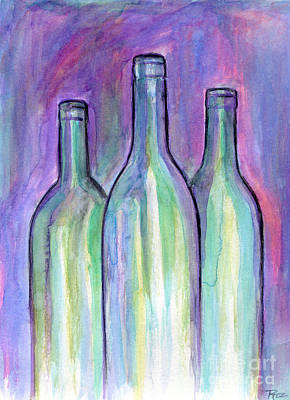 Bring The Wine Print by Roz Abellera Art