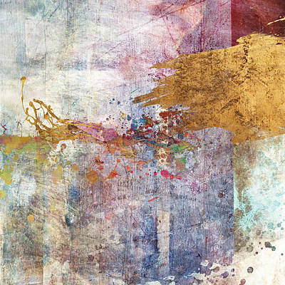 Abstraction Digital Art - Bring Wine Square by Aimee Stewart