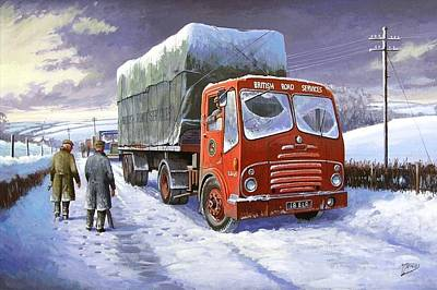 Snowbound Painting - Bristol Ha Brs by Mike  Jeffries