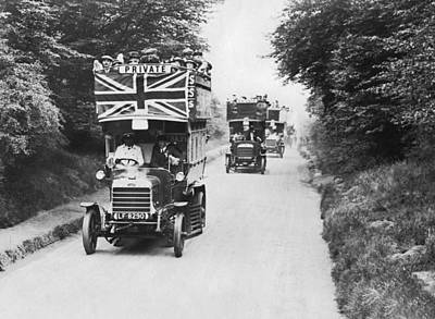 Waltham Photograph - British Double Decker Buses by Underwood Archives