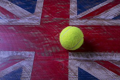 Saint George Photograph - British Flag And Tennis Ball by Garry Gay
