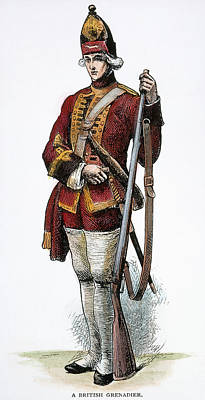 Redcoat Photograph - British Grenadier, 18th C by Granger