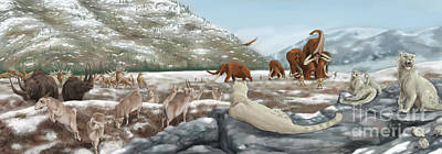Ice Age Digital Art - British Landscape With Various by Alice Turner