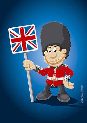 Man Drawing - British Royal Guard Cartoon Man by Frank Ramspott