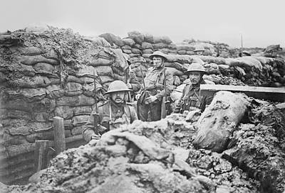 Trenches Photograph - British Trench by Library Of Congress