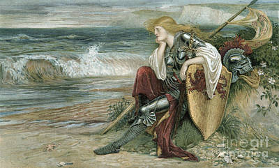 Contemplative Painting - Britomart by Walter Crane