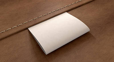 Materials Digital Art - Broad Clothing Label On Leather Perspective by Allan Swart
