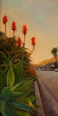 Aloe Painting - Broadview East by Athena Mantle