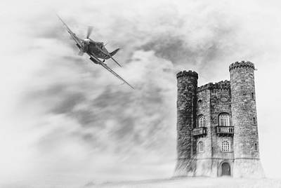 Supermarine Digital Art - Broadway Tower Flyby by Peter Chilelli