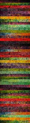 Brocade And Stripes Tower 1.0 Print by Michelle Calkins