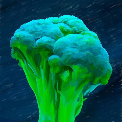 Broccoli 01 Print by Wally Hampton