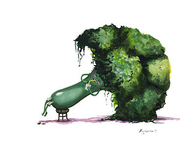 Broccoli Mixed Media - Broccoli by Alina  Kuzmenko