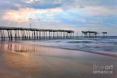 Broken Dreams - Frisco Pier Outer Banks I Print by Dan Carmichael