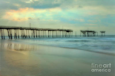 Broken Dreams - Frisco Pier Outer Banks II Print by Dan Carmichael