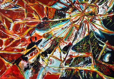 Shards Painting - Broken Mirror by Daniel Janda