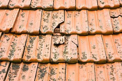 Rooftop Photograph - Broken Tiles by Tom Gowanlock