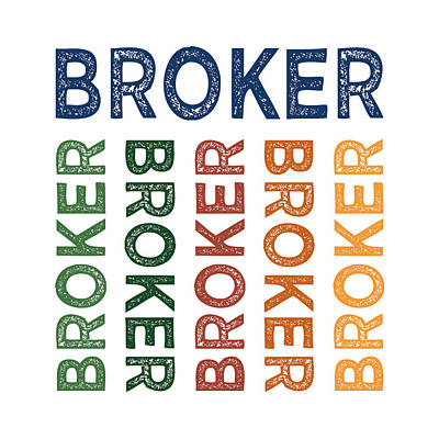 Broker Cute Colorful Print by Flo Karp