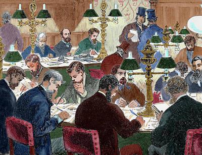 Brokers Working Nineteen-century Print by Prisma Archivo