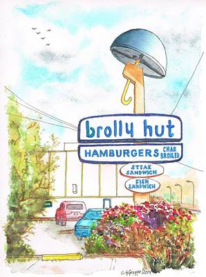 brolly Hut Hamburgers in Inglewood - California Original by Carlos G Groppa