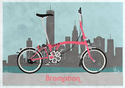 Brompton City Bike Print by Andy Scullion