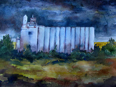 Summer Thunderstorm Painting - Brooding Towers by James Huntley