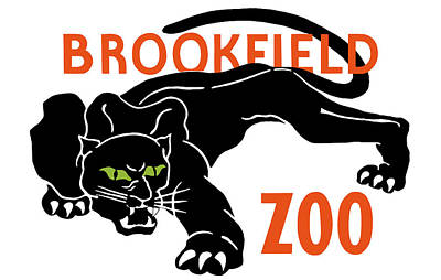 Panther Mixed Media - Brookfield Zoo Wpa by War Is Hell Store