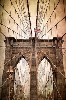 Brooklyn Bridge Approach Print by Jessica Jenney