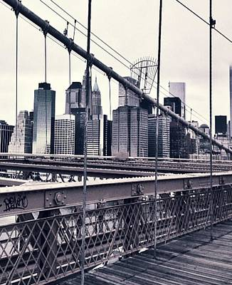 Cdkirven Mixed Media - Brooklyn Bridge by CD Kirven