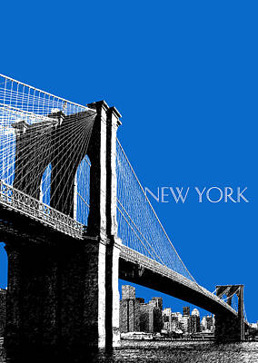 Chrysler Building Digital Art - Brooklyn Bridge by DB Artist