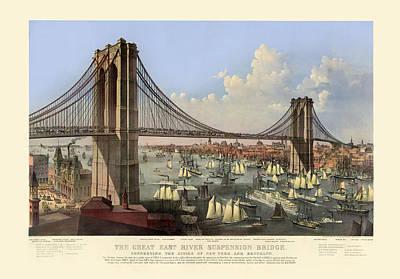 Brooklyn Bridge Digital Art - Brooklyn Bridge by Gary Grayson