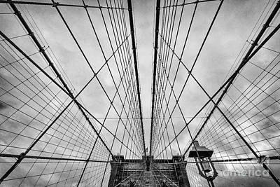 Strong Contrasts Photograph - Brooklyn Bridge by John Farnan