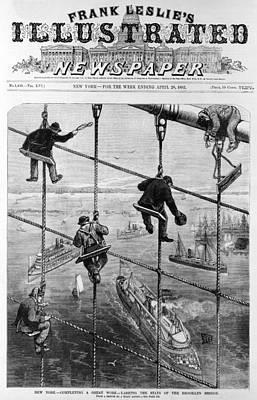 Brooklyn Bridge. New York-completing Print by Everett