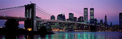 Brooklyn Bridge New York Ny Usa Print by Panoramic Images