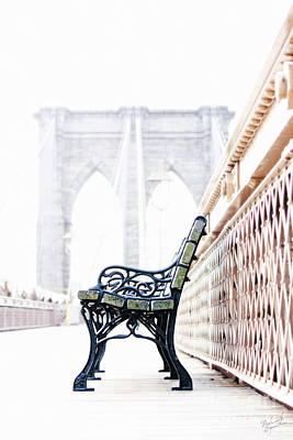 Empty Chairs Photograph - Brooklyn Bridge by Nishanth Gopinathan