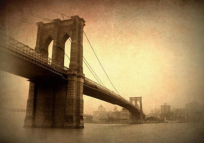 Brooklyn Bridge Digital Art - Brooklyn Bridge Nostalgia II by Jessica Jenney