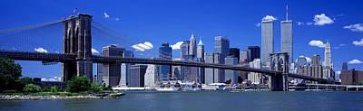 Brooklyn Bridge Skyline New York City Print by Panoramic Images