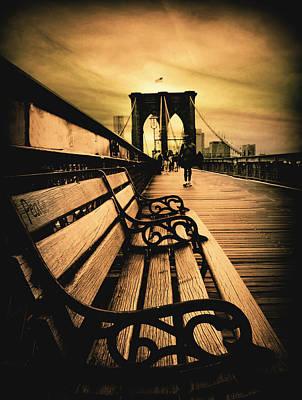 Brooklyn Bridge Sunset Print by Jessica Jenney
